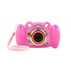 """Digitální fotoaparát pro děti Ugo Froggy, růžový, 1,3mpx, video Full HD 1080 px, 2"""" LCD displej"""