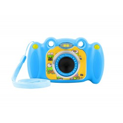 """Digitální fotoaparát pro děti Ugo Froggy, modrý, 1,3mpx, video Full HD 1080px, 2"""" LCD displej"""