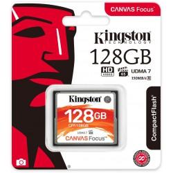 128GB CompactFlash Canvas Focus Kingston