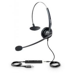 Yealink YHS33-USB, náhlavka, jednoušní, vč. USB redukce, 3,5mm Jack