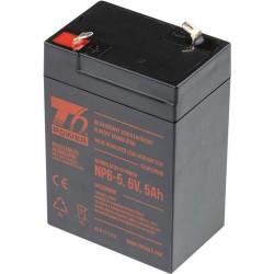 T6 POWER olověný akumulátor NP6-5, 6V, 5Ah