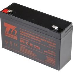 T6 POWER olověný akumulátor NP6-12, 6V, 12Ah