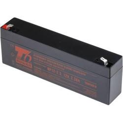 T6 POWER olověný akumulátor NP12-2.3, 12V, 2,3Ah