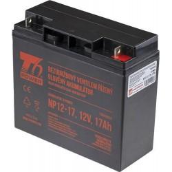 T6 POWER olověný akumulátor NP12-17, 12V, 17Ah