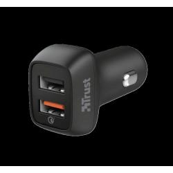 TRUST QMAX USB A+A CAR CHARGER QC3 30W