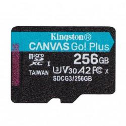 256GB microSDXC Kingston Canvas Go! Plus A2 U3 V30 170MB/s bez adapteru