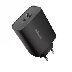 TRUST QMAX USB C+A WALL CHARGER PD 30W