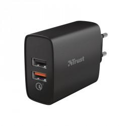 TRUST QMAX USB A+A WALL CHARGER QC3 30W