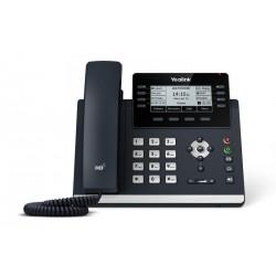 """Yealink SIP-T43U SIP telefon, PoE, 3,7"""" 360x160 LCD, 21 prog.tl.2xUSB, GigE"""