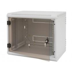 Nástěnný rack.jednodílný 15U (š)600x(h)495 perforované dveře