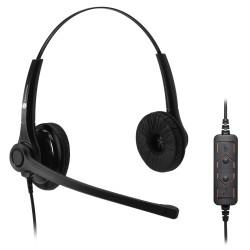 JPL 400B-USB náhlavní souprava na obě uši s USB konektorem