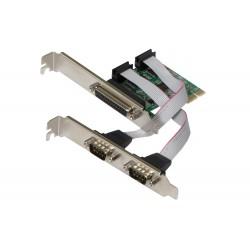 EVOLVEO Serial RS232   LPT PCIe, rozšiřující karta