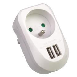 PremiumCord USB nabíjecí adaptér 230V 2xUSB 5V maximální proud 3,4A