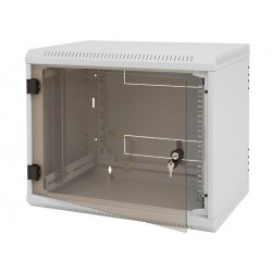 Nástěnný rack jednodílný 15U (š)600x(h)595 perf.dv