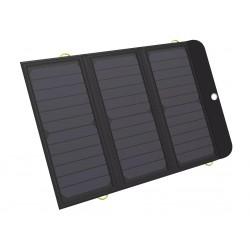 Sandberg Solar Charger 21W 2xUSB+USB-C, solární nabíječka, černá
