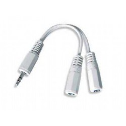 Kabel.rozdvojka jack 3,5na2x3,5mm M/F,10cm, audio