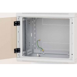 Nástěnný rack jednodílný 12U (š)600x(h)595 perforované dveře
