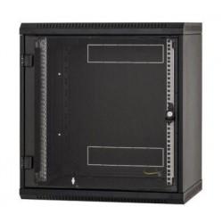 Nástěnný rack RUA 9U/600mm odn.boč.+perf.dv.černý