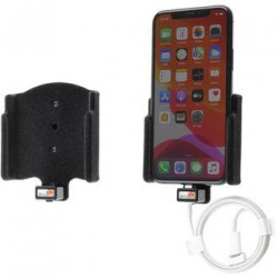 Brodit držák do auta na Apple iPhone 11 Pro v sametu, bez bouzdra, s průchodkou pro Lightning kabel