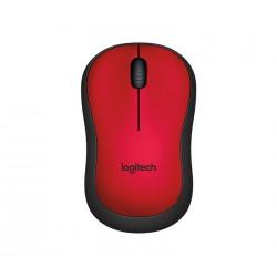 myš Logitech Wireless Mouse M220 silent red