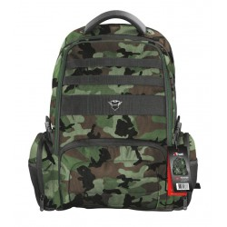 """TRUST GXT 1250G Hunter Gaming Backpack pro 17.3"""" laptopy, zelená kamufláž"""