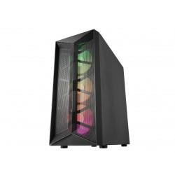 FSP/Fortron ATX Midi Tower CMT211A Black, průhledná bočnice, A.RGB