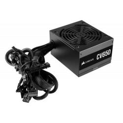 CORSAIR zdroj CV650 650W CV série (ventilátor 12 cm, model 2021, účinnost 80 Plus BRONZE, až 88 procent)