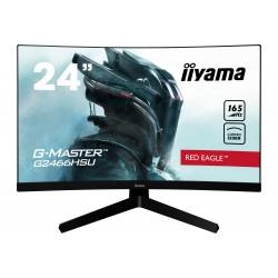 """24"""" iiyama G-Master G2466HSU-B1: VA, FullHD@165Hz, 1ms, HDMI, DP, USB, FreeSync, zakřivený, černý"""