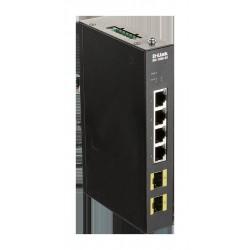 D-Link DIS-100G-6S Průmyslový Gigabit unmanaged switch, 4GbE, 2 SFP