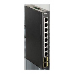D-Link DIS-100G-10S Průmyslový Gigabit unmanaged switch, 8 GbE, 2 SFP