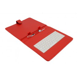 "AIREN AiTab Leather Case 3 with USB Keyboard 9,7"" RED (CZ/SK/DE/UK/US.. layout)"