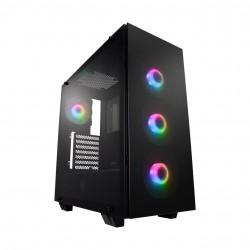 FSP/Fortron ATX Midi Tower CMT512 Black, průhledná bočnice, 4 x A.RGB LED 120 mm ventilátor