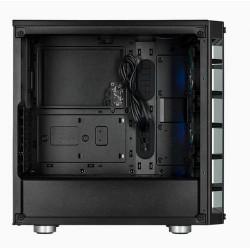 CORSAIR Crystal Series 465X Tempered Glass BLACK Compact ATX Mid-Tower Case černý ATX PC Case bez zdroje, průhledná bočnice