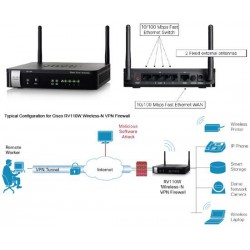 Cisco RV 110W WiFi N VPN Firewall, RV110W-E-G5-K9