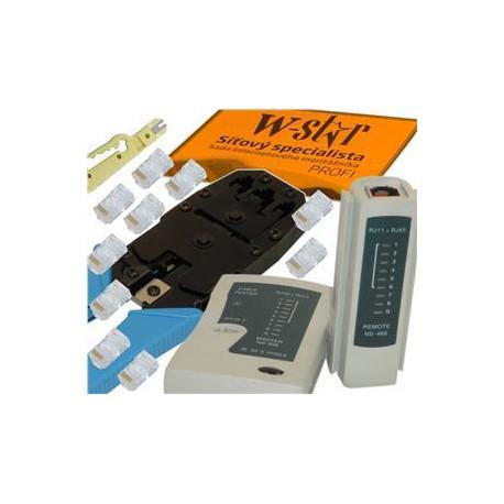 UTP tester+kleště UNI+stripovač narážeč+10xRJ45