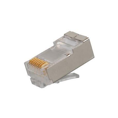 Konektor RJ45 CAT6 STP 8p8c na drát,100ks