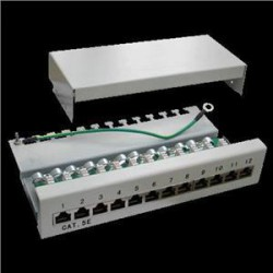 Patch panel Box 12-port Cat5e STP na zed´