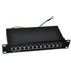 "Patch panel 10"" STP Cat5e 12 portů"