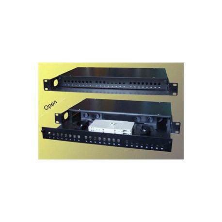 """19"""" Optická vana 24xST simplex včetně kazety černá"""