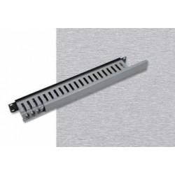 """Vyvazovací panel 1U 19"""" jednostranná plastová lišta šedo-černá"""