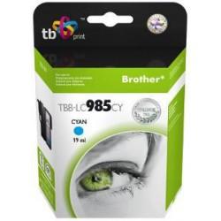 Ink. kazeta TB kompat. s Brother LC 985 CY 100% N