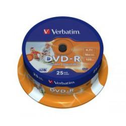 VERBATIM DVD-R(25-Pack)Spindl/Printable/16x/4.7GB