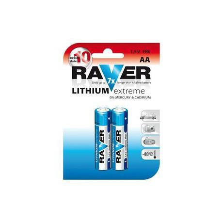 Lithiová baterie RAVER 2x AA