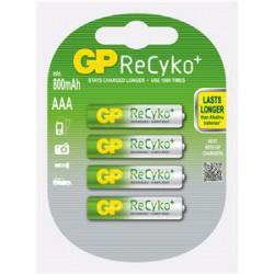 Nabíjecí baterie GP AAA Recyko+ (800mAh) 4ks