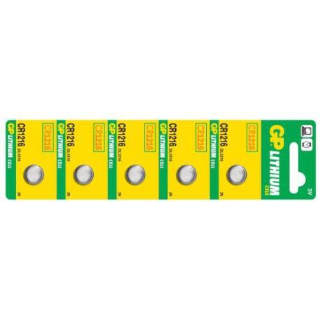 Lithiová baterie GP CR1216 - 5ks
