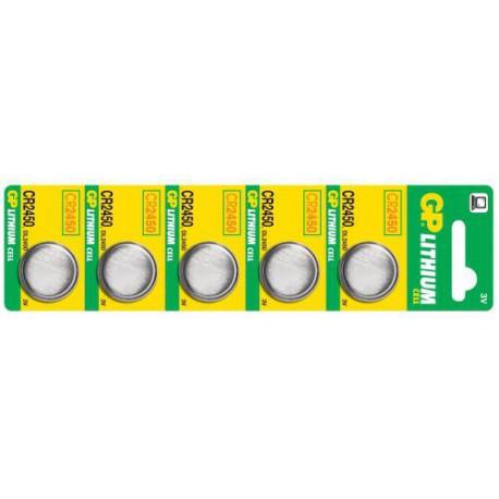 Lithiová baterie GP CR2450 - 5ks