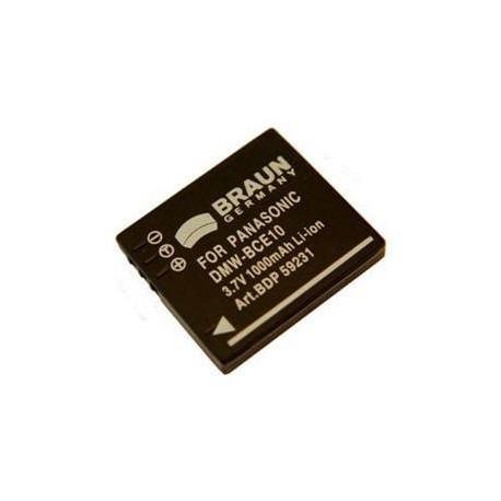 Braun akumulátor PANASONIC BCE10, VBJ10, S008, Leica BP-DC6, Ricoh DB-70, 1000mAh