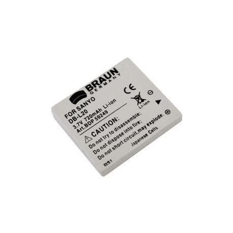 Braun akumulátor SANYO DB-L20, 720mAh