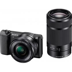 Sony A5100Y, 16-50 + 55-210mm, 24,3Mpix, černý