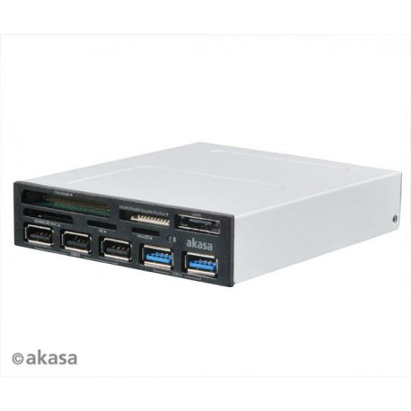 AKASA USB 2.0 čtečka karet s eSATA a USB panelem